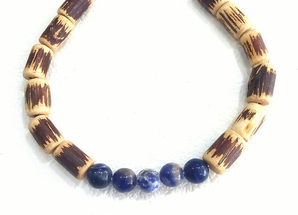 Stacker -6mm sodalite and wood