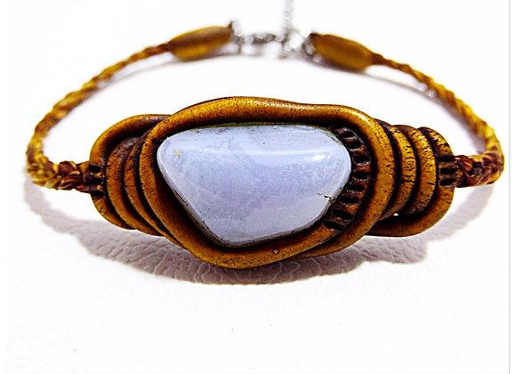 Agate blue lace / Bracelet