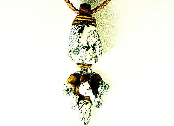 Tree Agate Drop Pendant