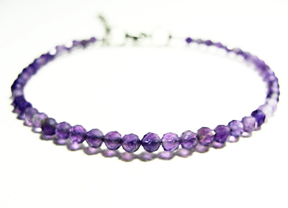 Stacker - 3mm Amethyst Faceted Ball