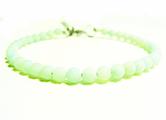 Stacker - 4mm Amazonite Frosted Ball