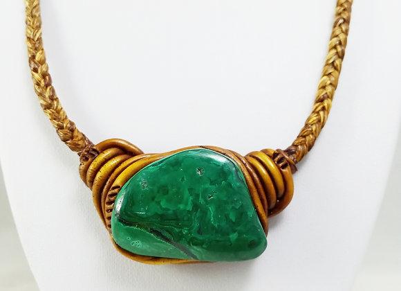 Malachite BIg Stone Necklace