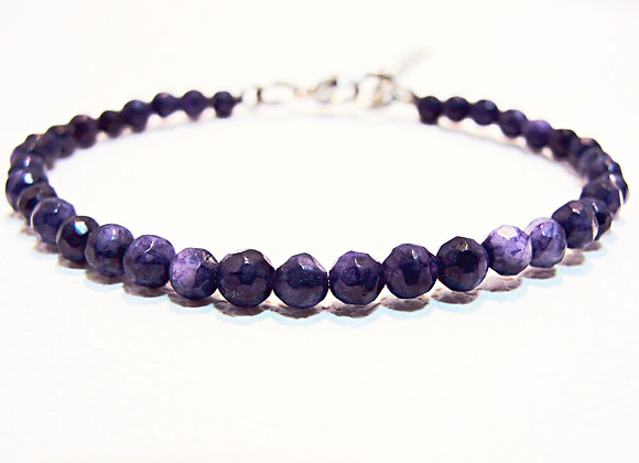 Stacker-4mm Amethyst Faceted Ball