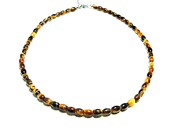Stack Choker - 4mm *6mm Tiger Eye Bead