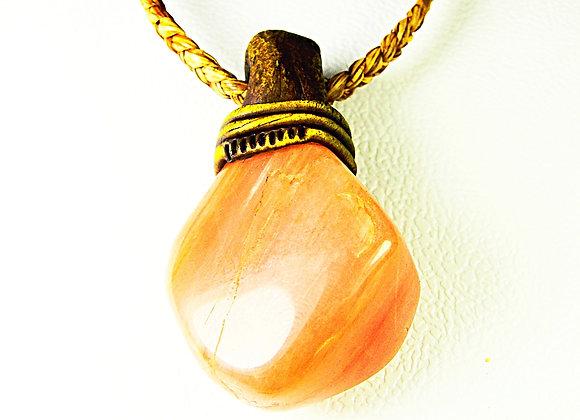Peach Quartz Bigstone Pandent