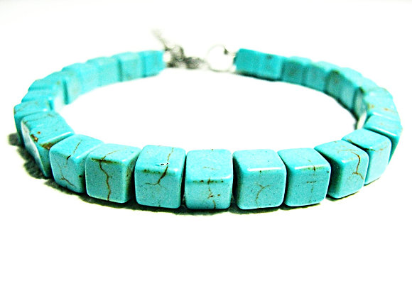 Stacker - 5mm Turquoise Cubes