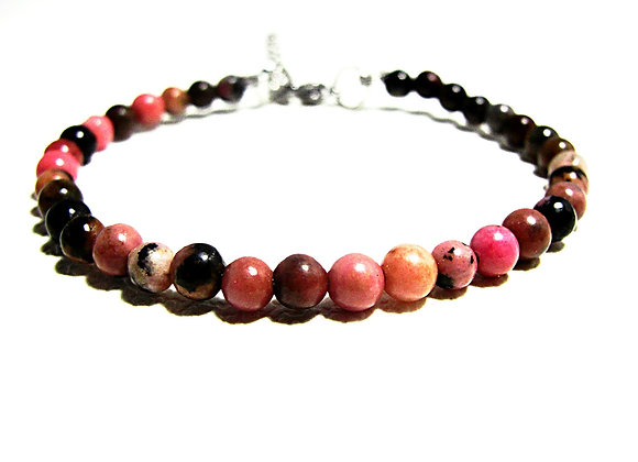 Stacker - 4mm Rhodochrosite Ball