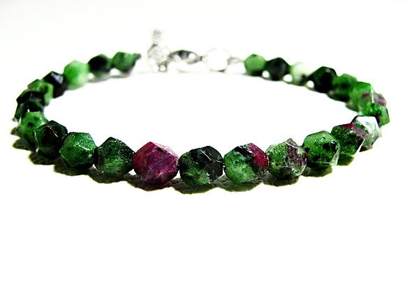 Stacker - 6mm Ruby In Zoisite Faceted