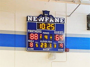Newfane Gymnasium Scoreboard