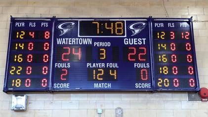 Watertown Gymnasium Scoreboard