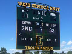 West Seneca East Stadium Scoreboard