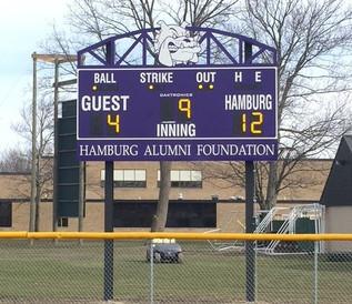 Hamburg Baseball Scoreboard