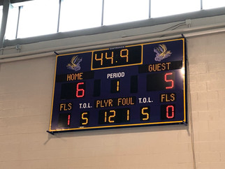 Clyde-Savannah Gymnasium Scoreboard
