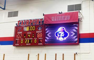Fairport Gymnasium Scoreboard