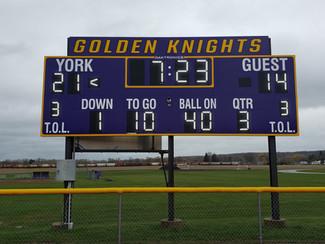 York Stadium Scoreboard