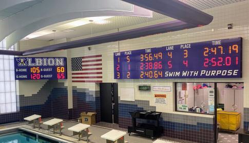 Albion Pool Scoreboard