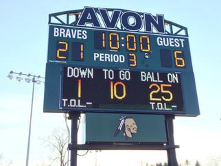 Avon Stadium Scoreboard