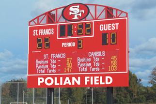 St. Francis Stadium Scoreboard