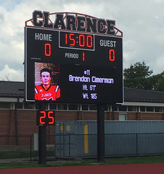 Clarence Stadium Scoreboard