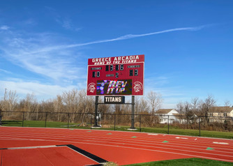 Greece Arcadia Stadium Scoreboard