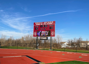 Greece Arcadia Stadium Scoreboard