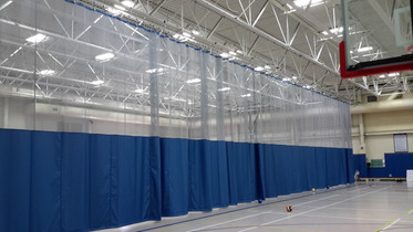 Webster Rec Center Divider Curtain