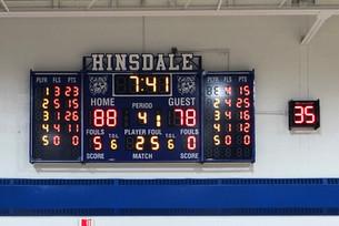 Hinsdale Gymnasium Scoreboard