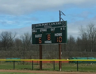 Lewiston Porter Baseball Scoreboard