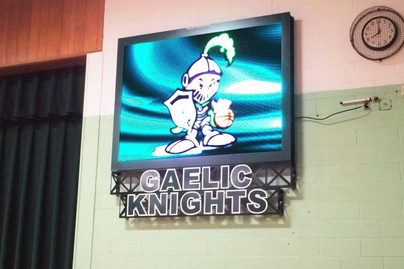 Bishop Ludden Indoor Video Display