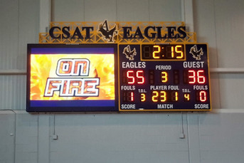 CSAT Gymnasium Scoreboard & Video Display