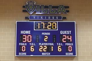 Villa Maria Gymnasium Scoreboard