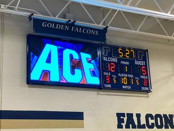 Falconer Gymnasium Scoreboard