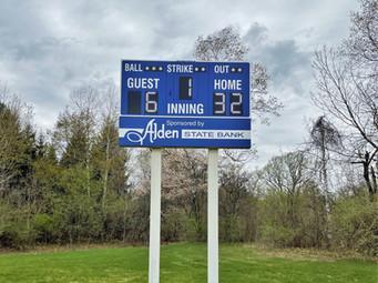 Alden Little League Baseball Scoreboard