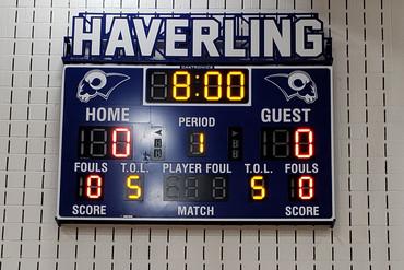 Haverling Gymnasium Scoreboard