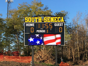 South Seneca Stadium Scoreboard
