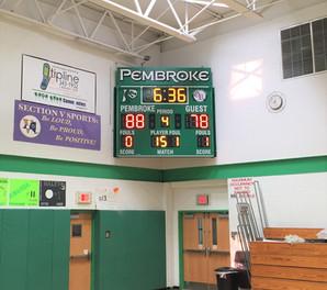 Pembroke Gymnasium Scoreboard