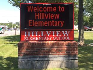 Hillview Elementary School Message Center