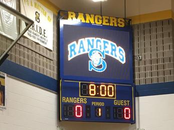 Spencerport Gymnasium Scoreboard & Video Display