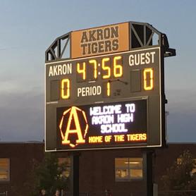 Akron Stadium Scoreboard