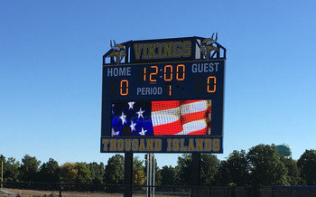Thousand Islands Stadium Scoreboard