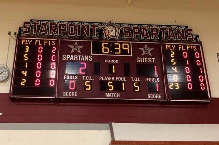 Starpoint Gymnasium Scoreboard