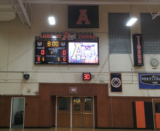 Amherst Gymnasium Scoreboard & Video Display