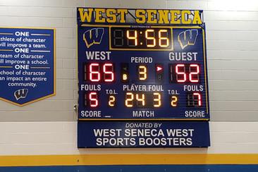 West Seneca Gymnasium Scoreboard