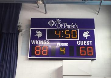 St John Vianney Gymnasium Scoreboard