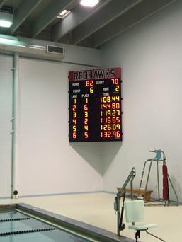 Roberts Wesleyan College Pool Scoreboard