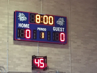 Burgard High School Gymnasium Scoreboard