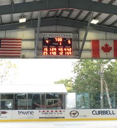 East Aurora Ice Rink Hockey Scoreboard