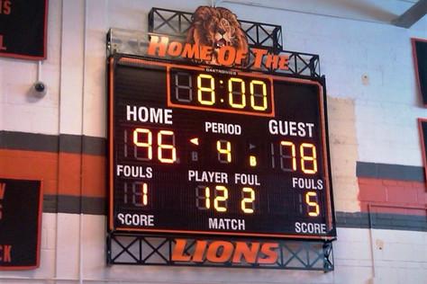 Wellsville Gymnasium Scoreboard