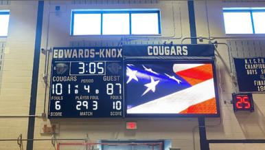 Edwards-Knox Gymnasium Scoreboard