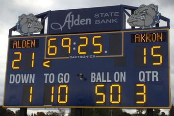 Alden Football Scoreboard